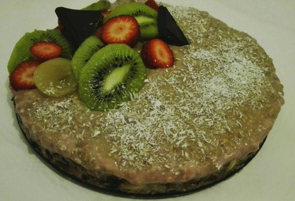 Nepečený ovocný RAW dort