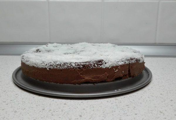 Čokoládový dortík s kokosem (bez cukru)