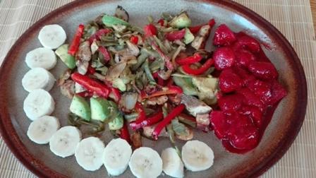 Mahu mahu se zeleninovou směsí