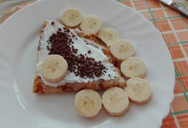 Banánové palačinky s tvarohem