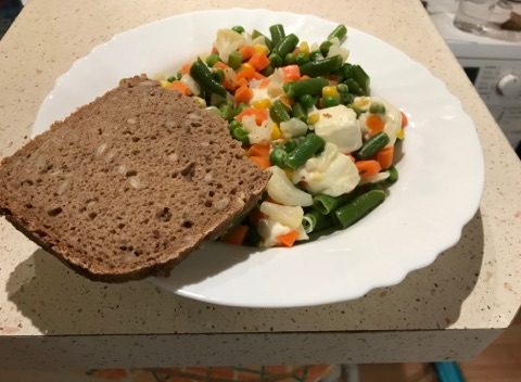 Vařená zelenina s mozzarellou