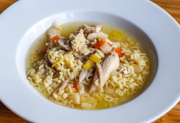 Luxusní polévka ze žabích stehýnek
