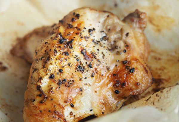 Pečené kuře s okurkou