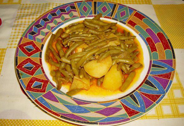 Zelené fazolky dušené s anglickou slaninou
