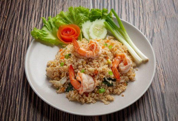 Thajská smažená rýže s krevetami